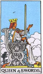 ความหมายของไพ่ยิปซี – Queen of Swords